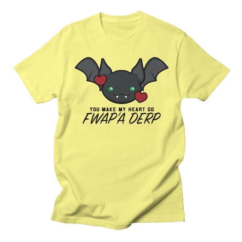 Fwap'a Derp Heart Men's Regular T-Shirt by All Things Vechs