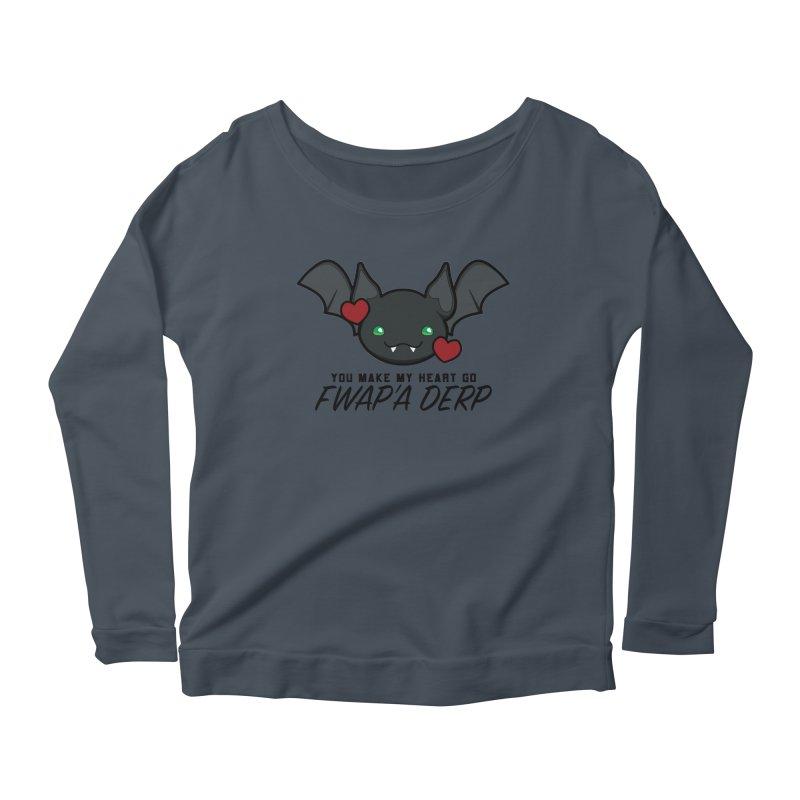 Fwap'a Derp Heart Women's Scoop Neck Longsleeve T-Shirt by All Things Vechs