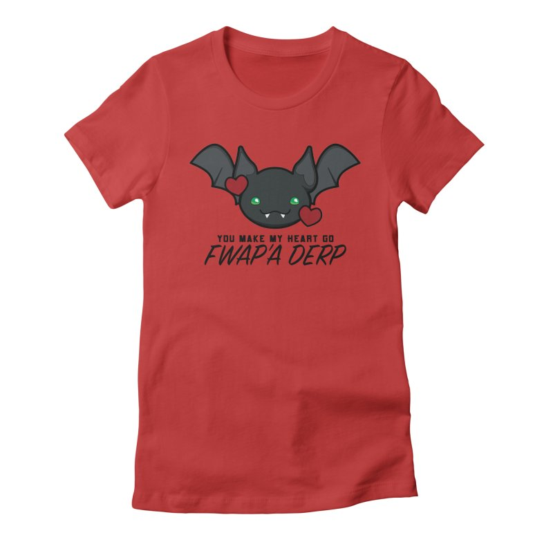 Fwap'a Derp Heart Women's Fitted T-Shirt by All Things Vechs