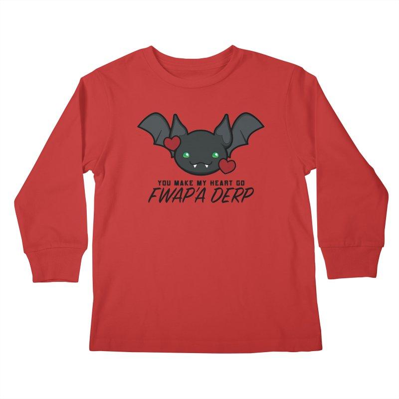Fwap'a Derp Heart Kids Longsleeve T-Shirt by All Things Vechs