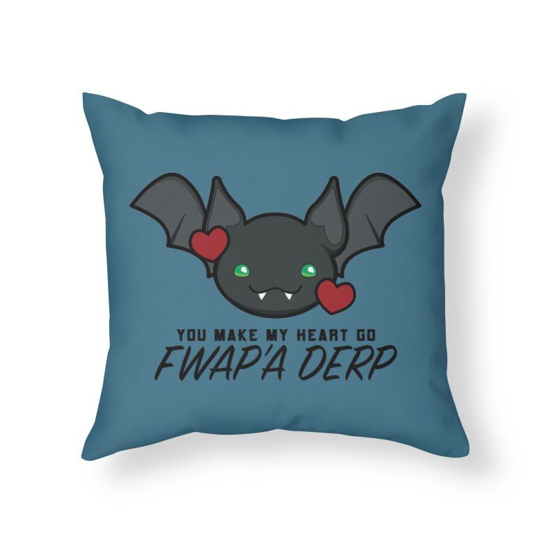 Fwap'a Derp Heart Home Throw Pillow by All Things Vechs
