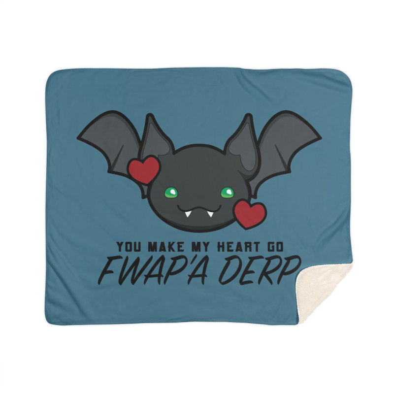 Fwap'a Derp Heart Home Sherpa Blanket Blanket by All Things Vechs