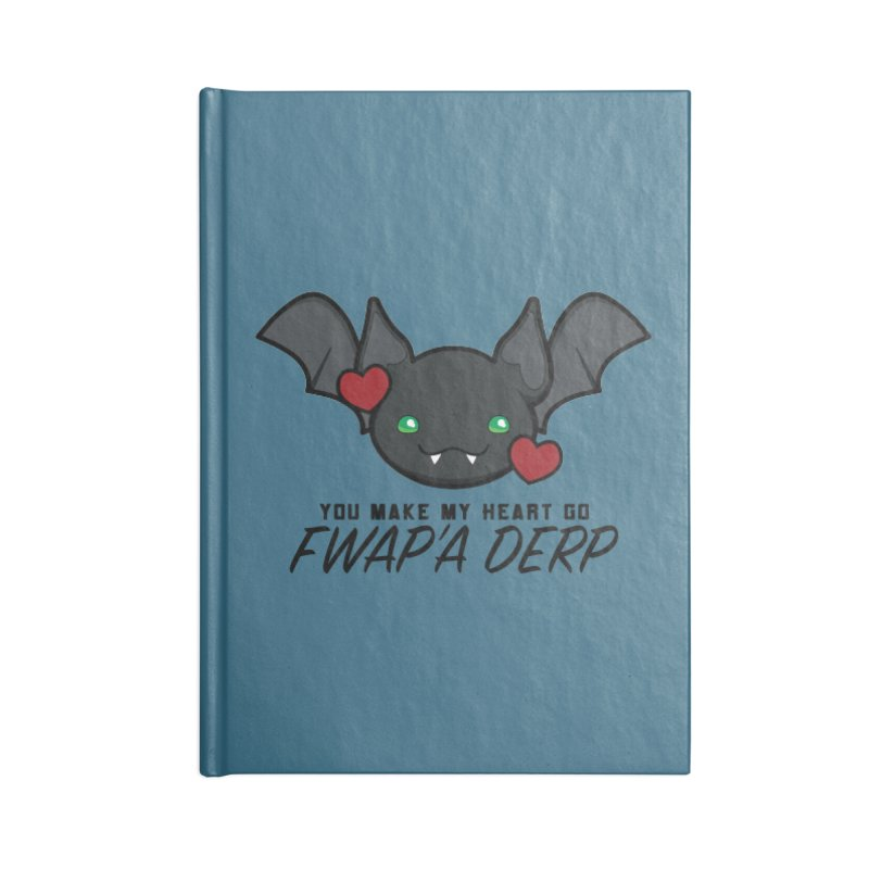 Fwap'a Derp Heart Accessories Lined Journal Notebook by All Things Vechs