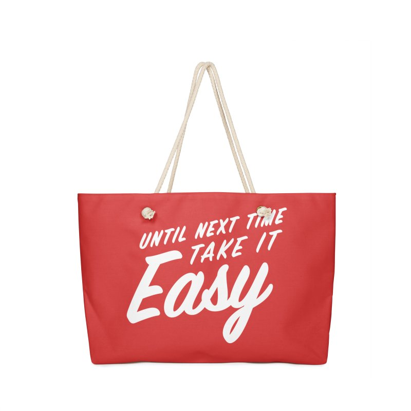 Take It Easy - White Accessories Bag by All Things Vechs