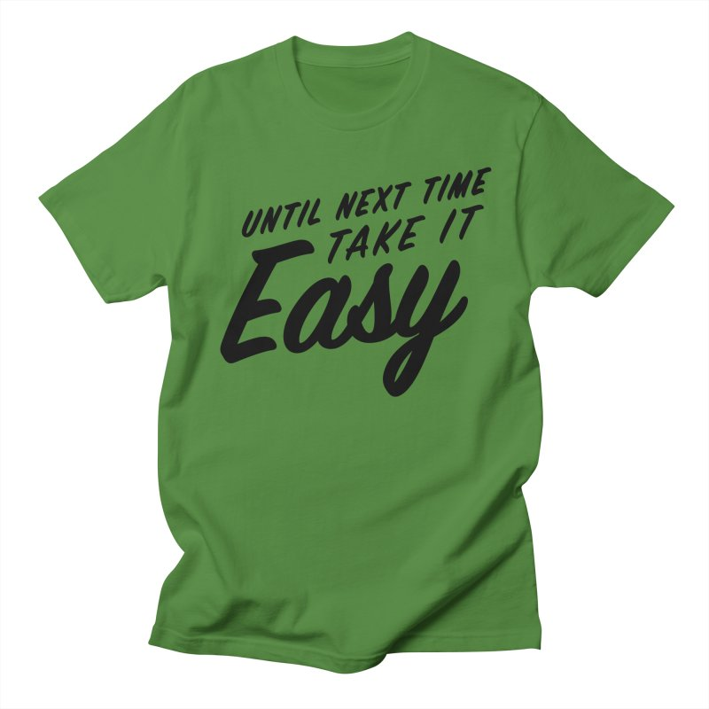 Take It Easy - Black Men's Regular T-Shirt by All Things Vechs