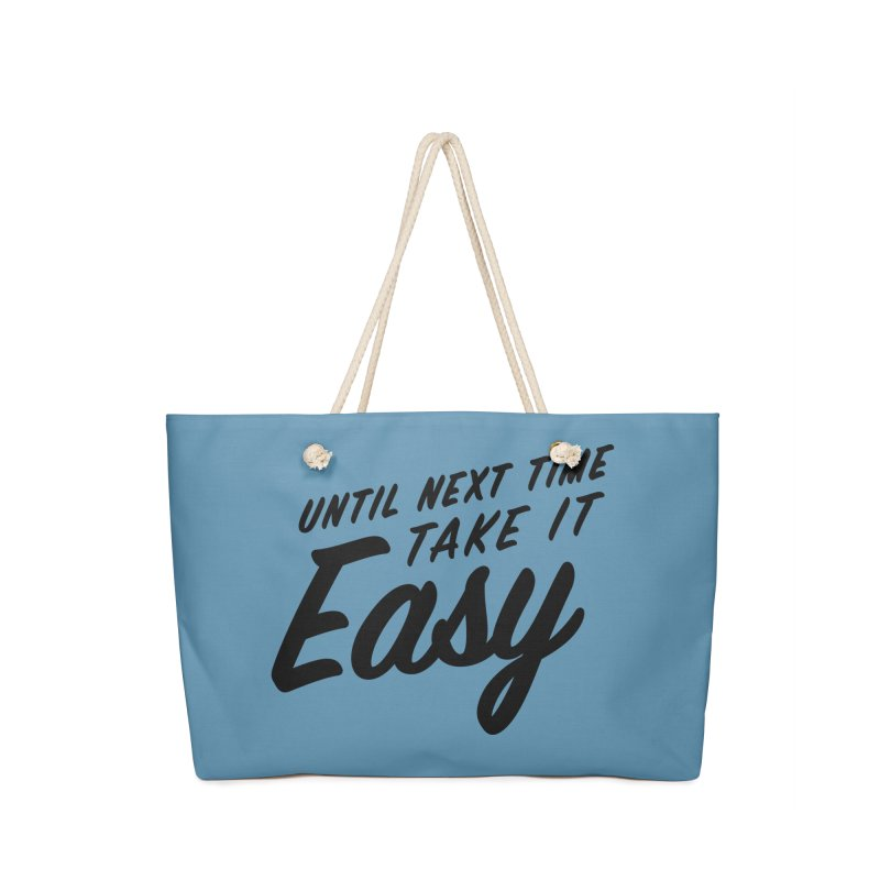 Take It Easy - Black Accessories Bag by All Things Vechs
