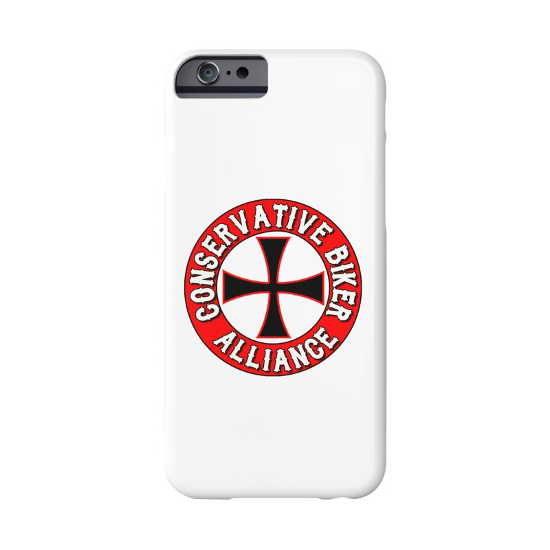 Conservative Biker Alliance Accessories Phone Case by Vegans Choice Motorcycle Club