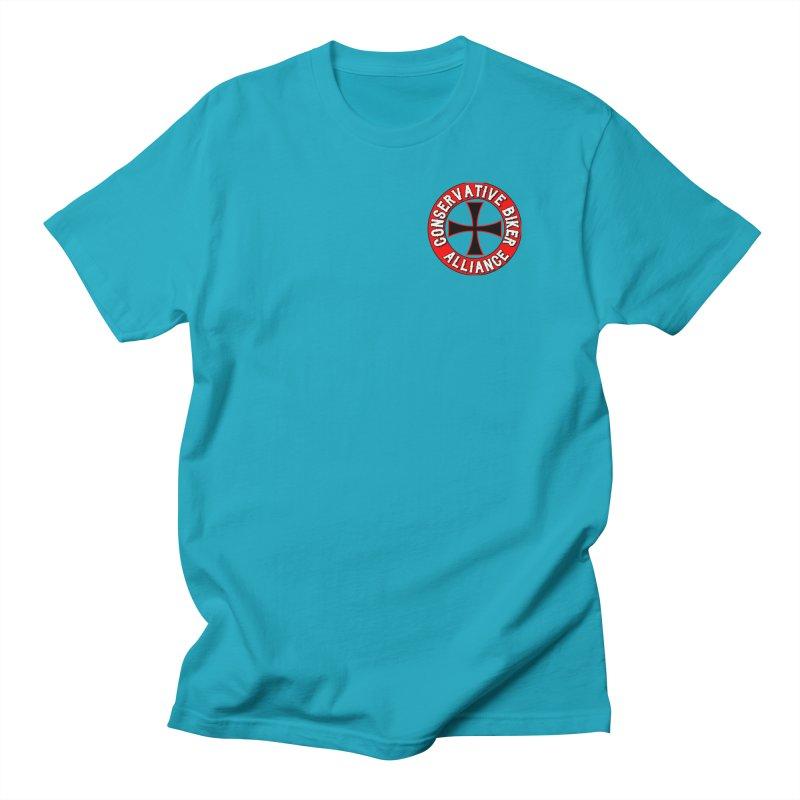 Conservative Biker Alliance Men's T-Shirt by Vegans Choice Motorcycle Club