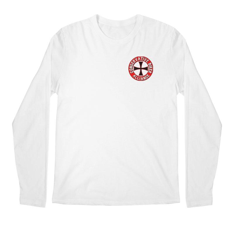 Conservative Biker Alliance Men's Longsleeve T-Shirt by Vegans Choice Motorcycle Club