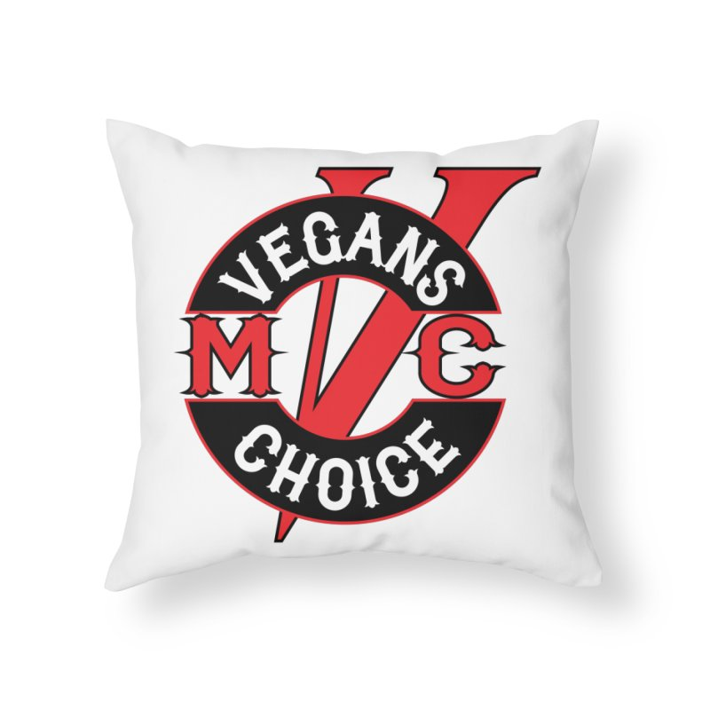 VCMC Home Throw Pillow by Vegans Choice Motorcycle Club