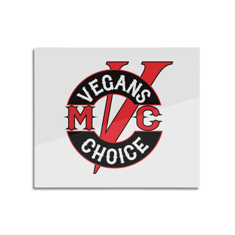 VCMC Home Mounted Aluminum Print by Vegans Choice Motorcycle Club
