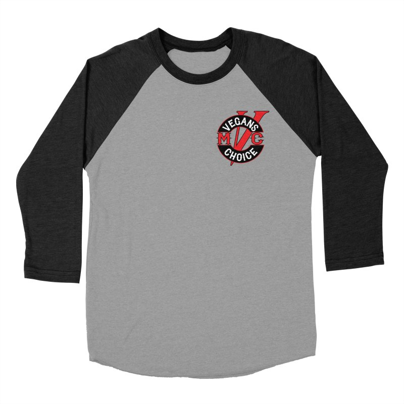 VCMC Men's Baseball Triblend Longsleeve T-Shirt by Vegans Choice Motorcycle Club