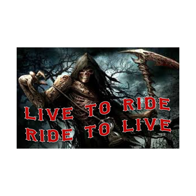 Live to Ride Reaper Accessories Zip Pouch by Vegans Choice Motorcycle Club