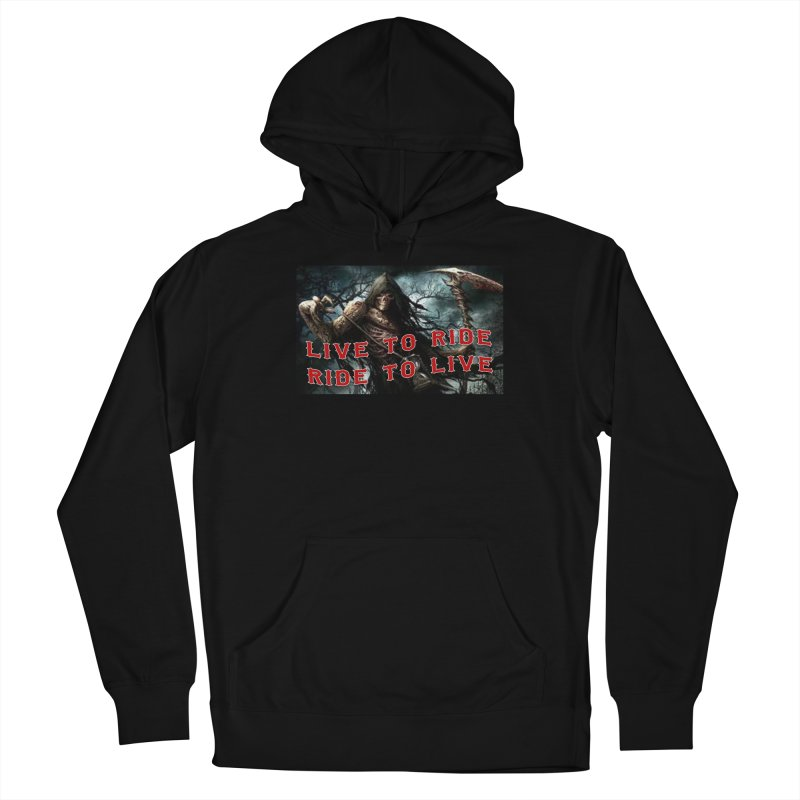 Live to Ride Reaper Women's Pullover Hoody by Vegans Choice Motorcycle Club