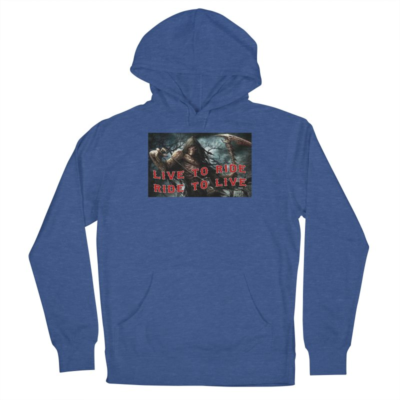 Live to Ride Reaper Men's French Terry Pullover Hoody by Vegans Choice Motorcycle Club