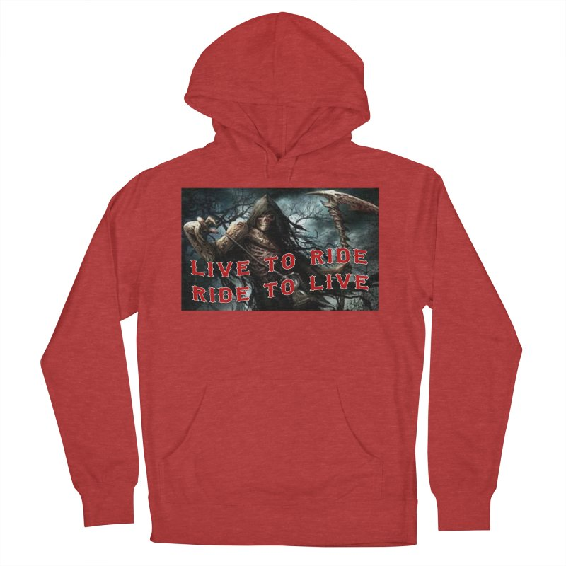 Live to Ride Reaper Women's French Terry Pullover Hoody by Vegans Choice Motorcycle Club