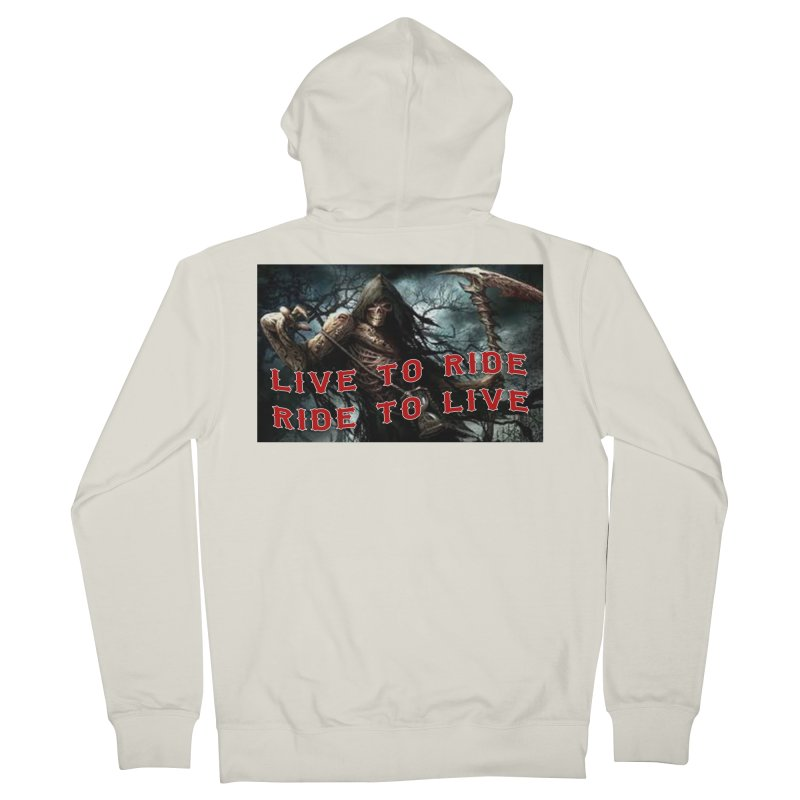 Live to Ride Reaper Women's Zip-Up Hoody by Vegans Choice Motorcycle Club
