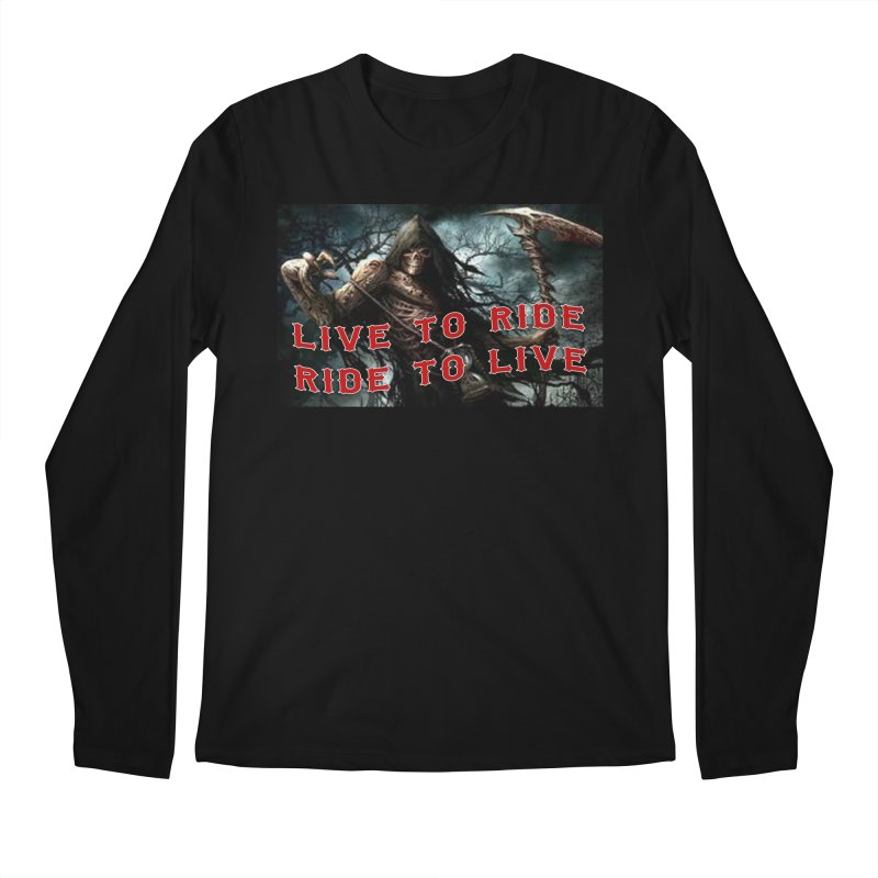 Live to Ride Reaper Men's Regular Longsleeve T-Shirt by Vegans Choice Motorcycle Club