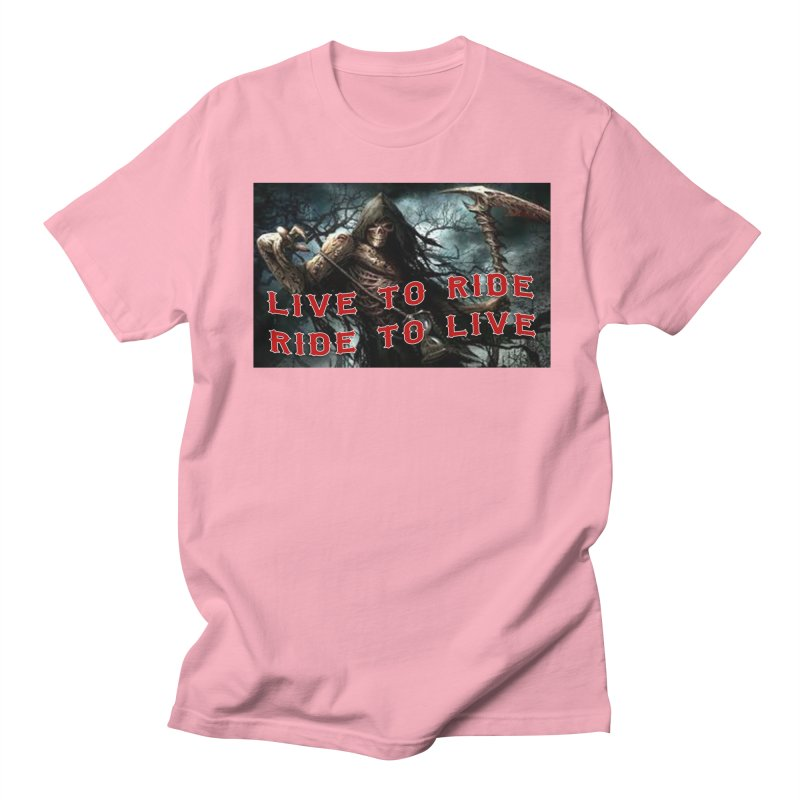 Live to Ride Reaper Men's T-Shirt by Vegans Choice Motorcycle Club
