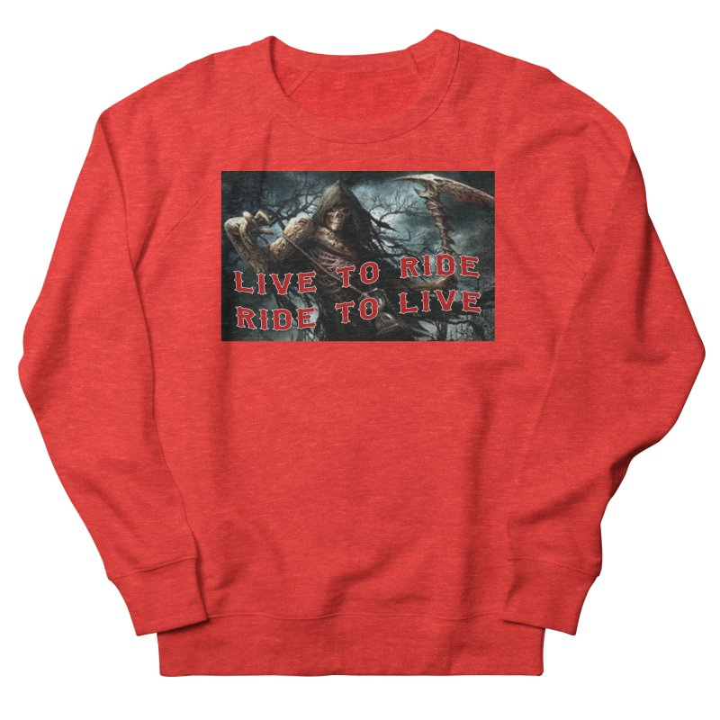 Live to Ride Reaper Women's Sweatshirt by Vegans Choice Motorcycle Club