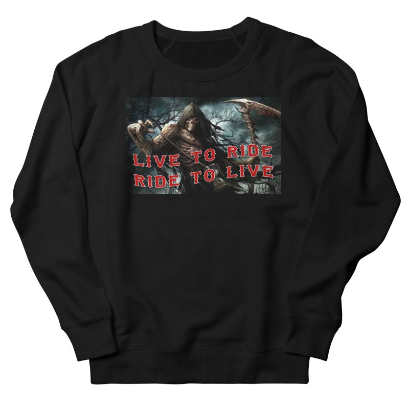 Live to Ride Reaper Men's French Terry Sweatshirt by Vegans Choice Motorcycle Club