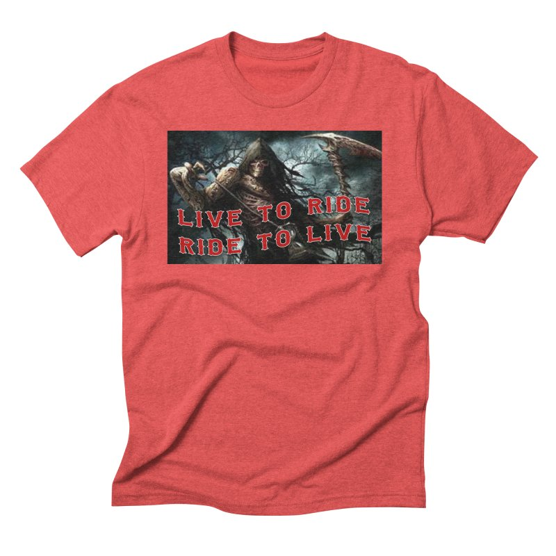 Live to Ride Reaper Men's Triblend T-Shirt by Vegans Choice Motorcycle Club