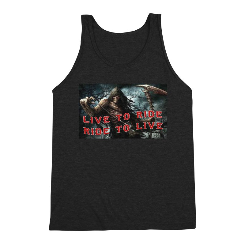 Live to Ride Reaper Men's Tank by Vegans Choice Motorcycle Club