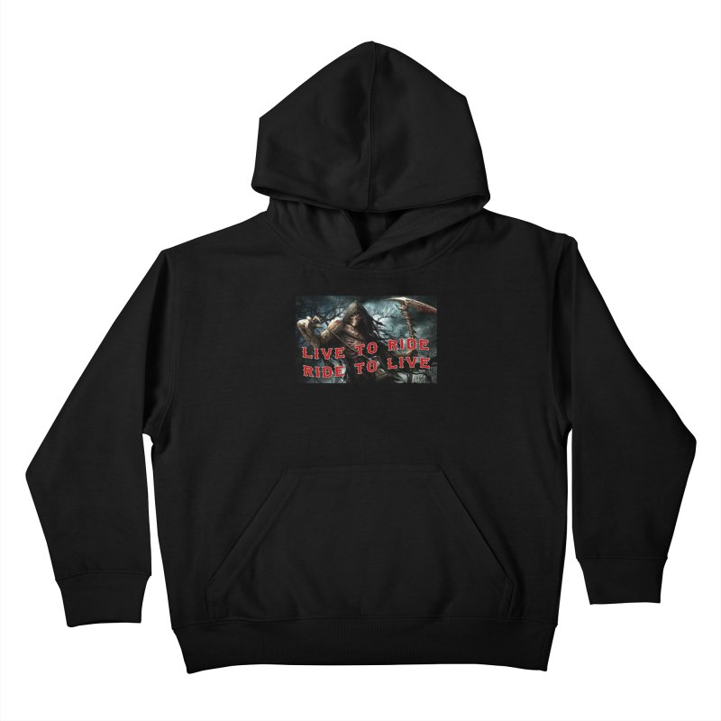 Live to Ride Reaper Kids Pullover Hoody by Vegans Choice Motorcycle Club