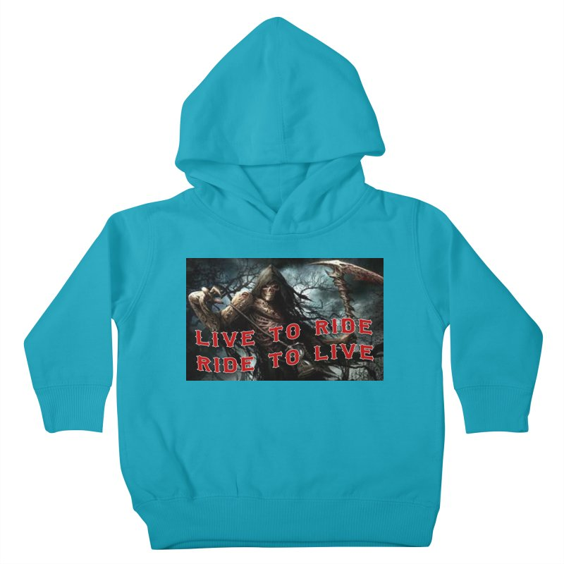 Live to Ride Reaper Kids Toddler Pullover Hoody by Vegans Choice Motorcycle Club