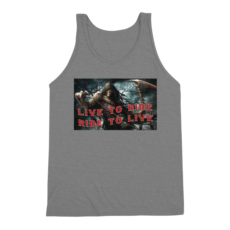 Live to Ride Reaper Men's Triblend Tank by Vegans Choice Motorcycle Club