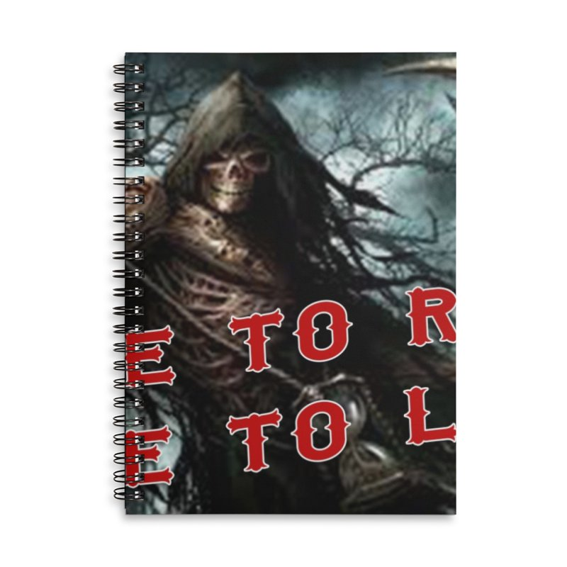 Live to Ride Reaper Accessories Lined Spiral Notebook by Vegans Choice Motorcycle Club