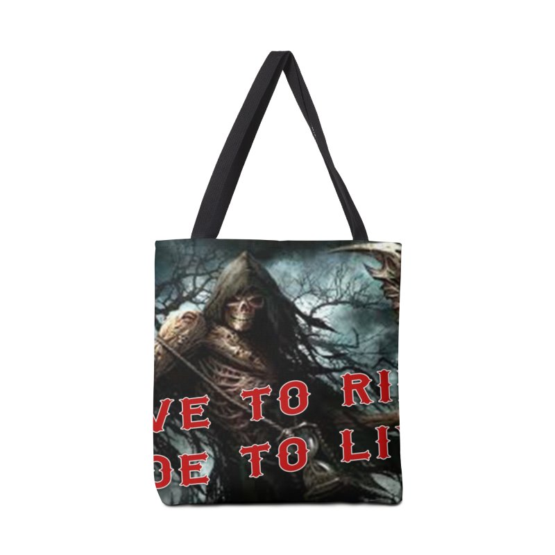 Live to Ride Reaper Accessories Tote Bag Bag by Vegans Choice Motorcycle Club