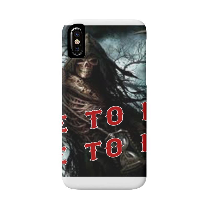 Live to Ride Reaper Accessories Phone Case by Vegans Choice Motorcycle Club