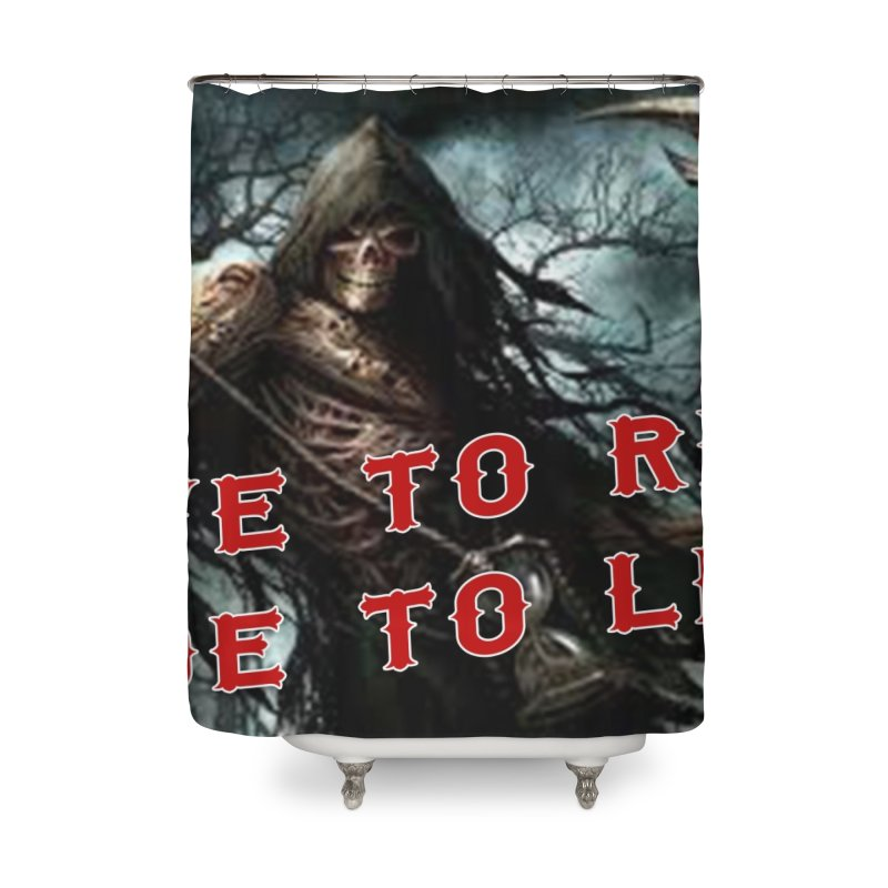 Live to Ride Reaper Home Shower Curtain by Vegans Choice Motorcycle Club