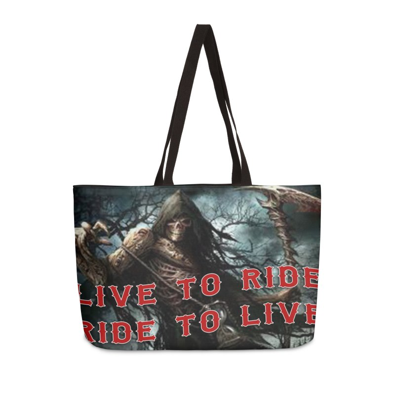 Live to Ride Reaper Accessories Weekender Bag Bag by Vegans Choice Motorcycle Club