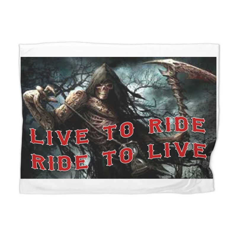Live to Ride Reaper Home Blanket by Vegans Choice Motorcycle Club