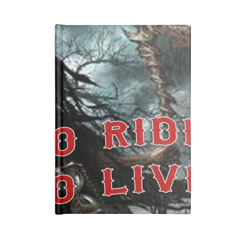 Live to Ride Reaper Accessories Notebook by Vegans Choice Motorcycle Club