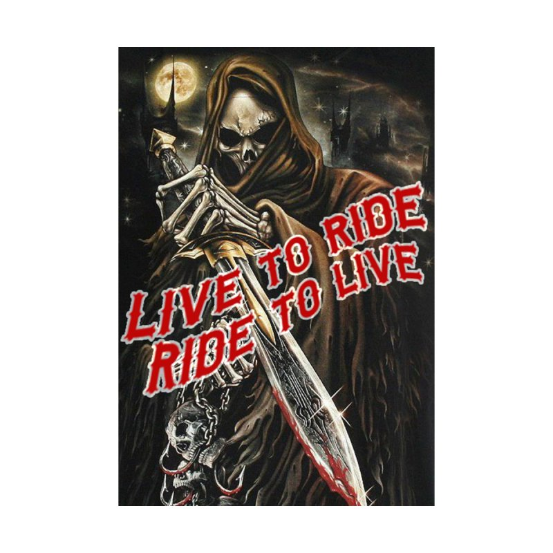 Reaper 2 Home Mounted Aluminum Print by Vegans Choice Motorcycle Club
