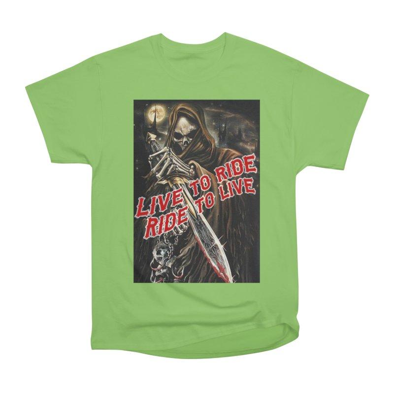 Reaper 2 Women's Heavyweight Unisex T-Shirt by Vegans Choice Motorcycle Club