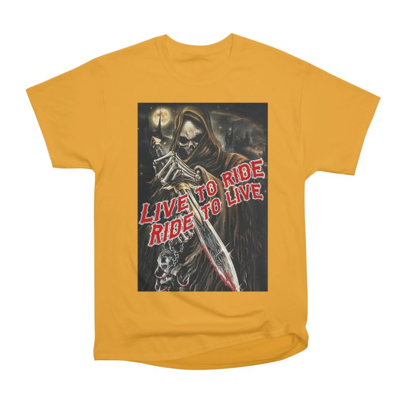 Reaper 2 Men's Heavyweight T-Shirt by Vegans Choice Motorcycle Club