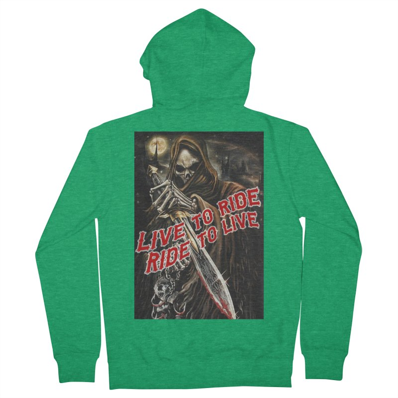 Reaper 2 Women's Zip-Up Hoody by Vegans Choice Motorcycle Club
