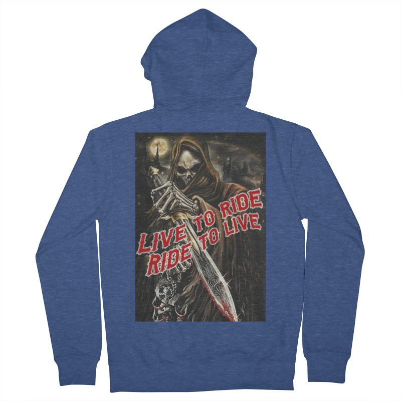 Reaper 2 Women's French Terry Zip-Up Hoody by Vegans Choice Motorcycle Club