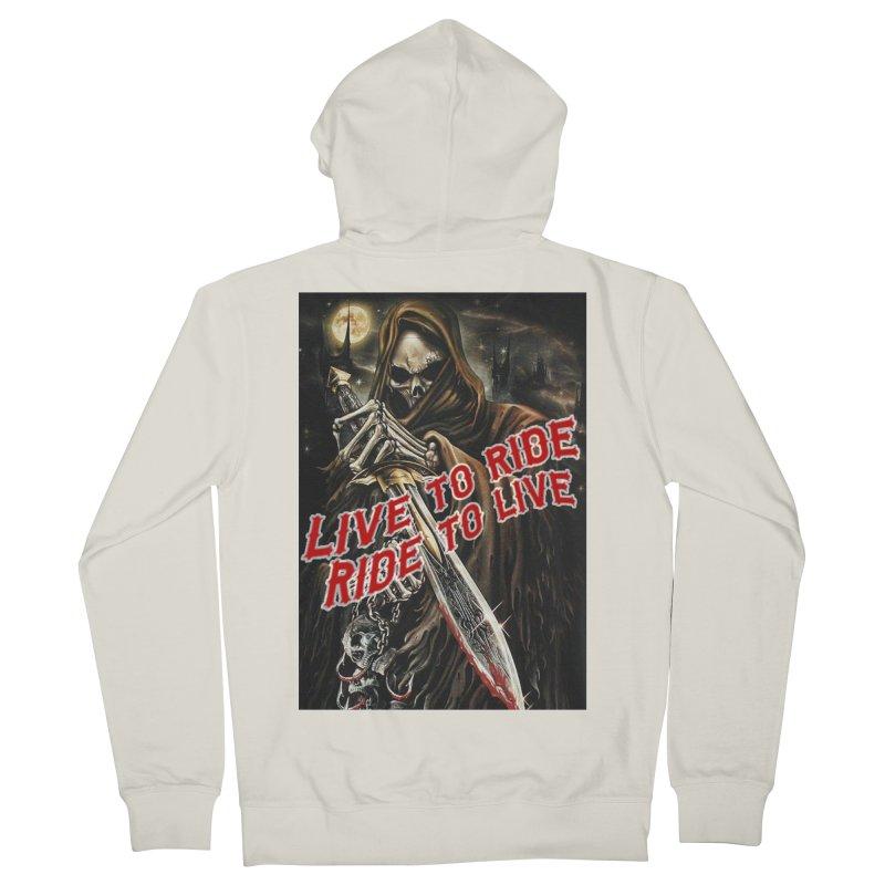 Reaper 2 Women's Zip-Up Hoody by Vegans Choice Motorcycle Club