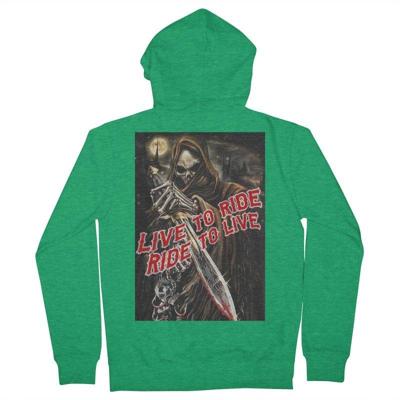 Reaper 2 Men's Zip-Up Hoody by Vegans Choice Motorcycle Club