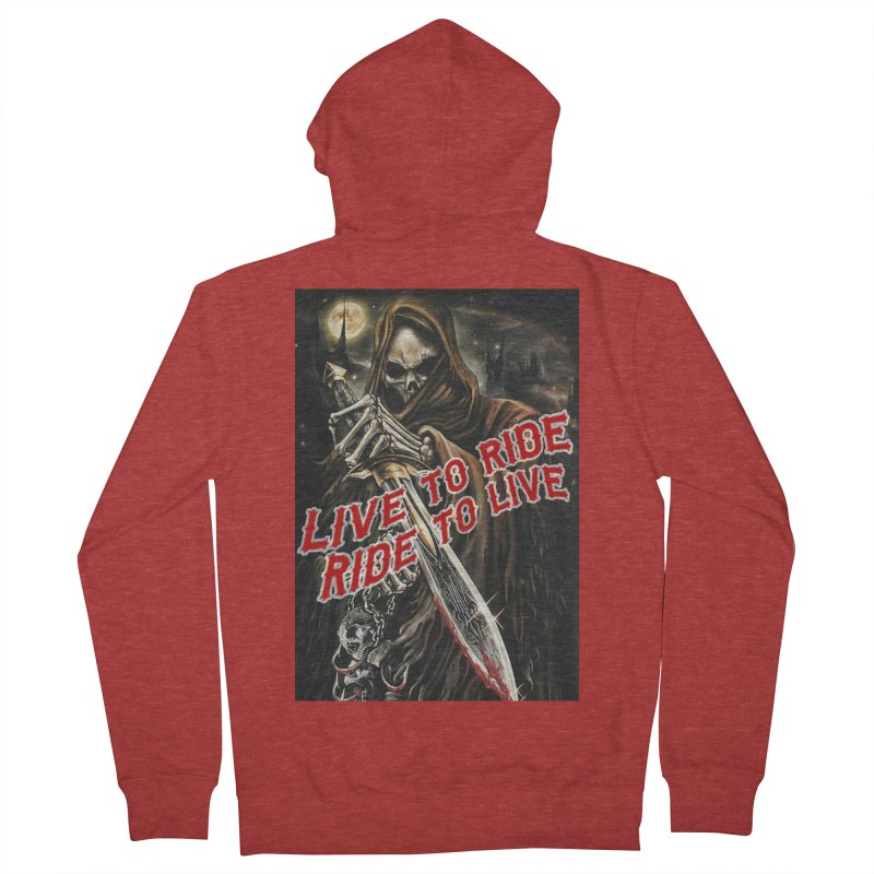 Reaper 2 Men's French Terry Zip-Up Hoody by Vegans Choice Motorcycle Club