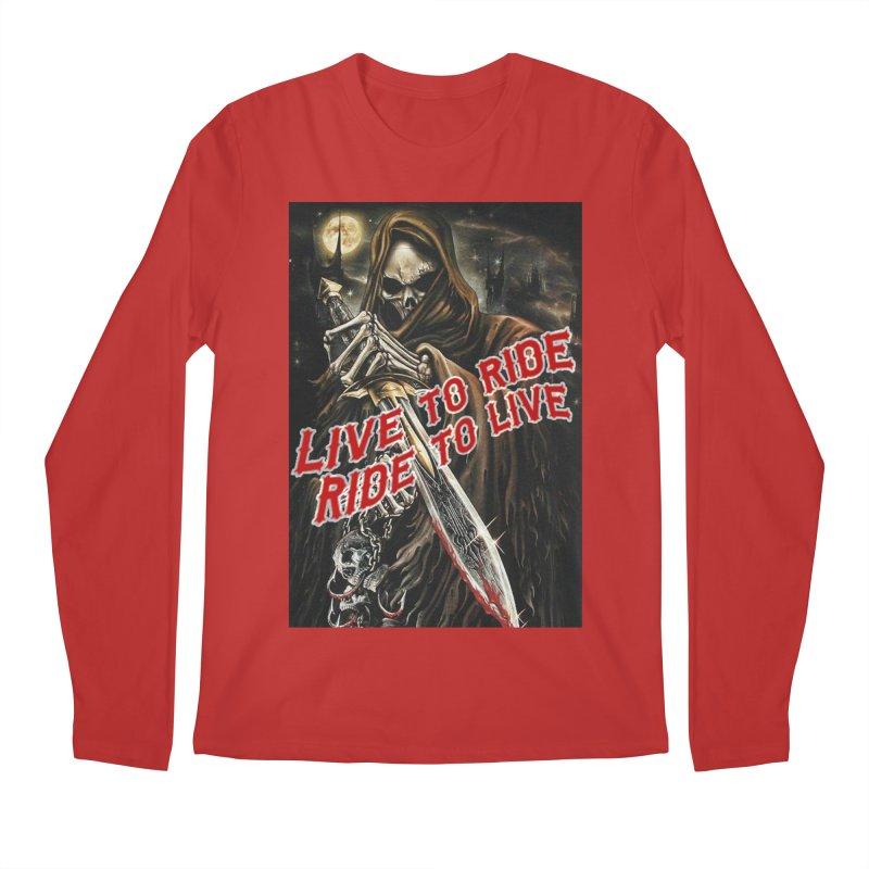 Reaper 2 Men's Regular Longsleeve T-Shirt by Vegans Choice Motorcycle Club