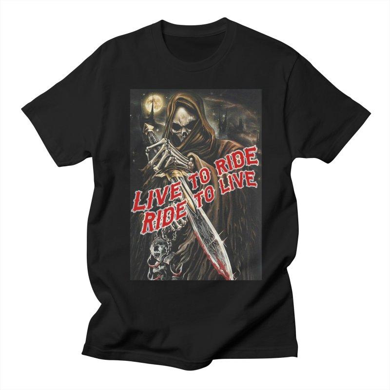 Reaper 2 in Men's Regular T-Shirt Black by Vegans Choice Motorcycle Club