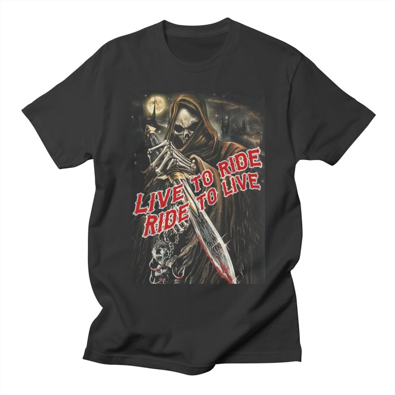 Reaper 2 Women's Regular Unisex T-Shirt by Vegans Choice Motorcycle Club