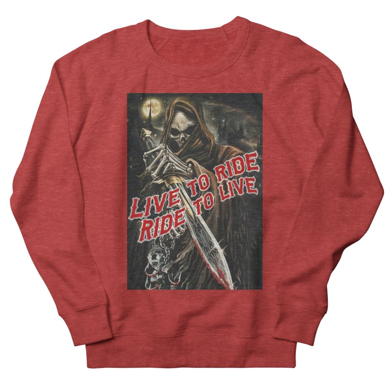 Reaper 2 Men's French Terry Sweatshirt by Vegans Choice Motorcycle Club