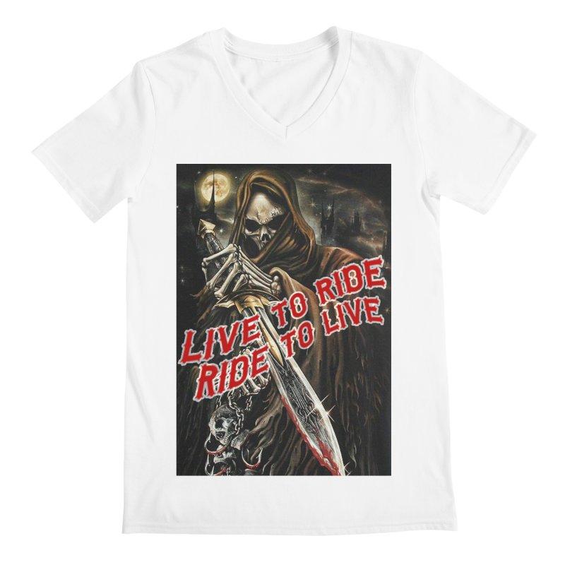 Reaper 2 Men's V-Neck by Vegans Choice Motorcycle Club